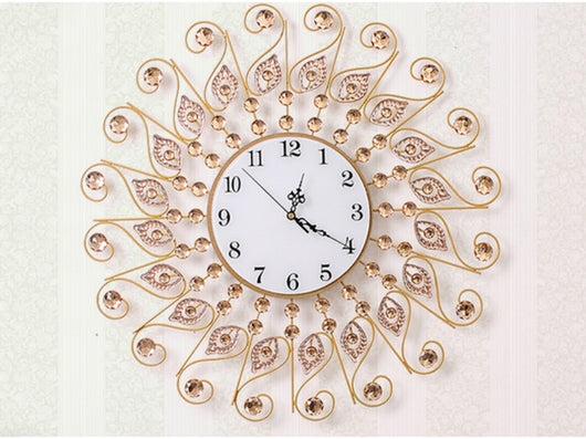 samiksha Sunrays Wall Clock with Mirrored Jewels - Samiksha's - Wall Clocks - www.samiksha.com