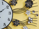 samiksha Black Metallic Wall Clock Embedded with Jewels - Samiksha's - Wall Clocks - www.samiksha.com