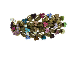 samiksha Vintage peacock hair clip with multi-color crystals - Samiksha's - Hairclip - www.samiksha.com