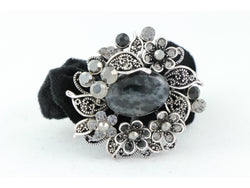 samiksha Wreath design pony tail holder with translucent beads and crystals - Black - Samiksha's - Pony Tail - www.samiksha.com
