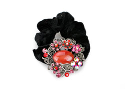 samiksha Wreath design pony tail holder with translucent beads and crystals - Red - Samiksha's - Pony Tail - www.samiksha.com