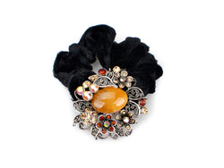 samiksha Wreath design pony tail holder with translucent beads and crystals - Yellow - Samiksha's - Pony Tail - www.samiksha.com