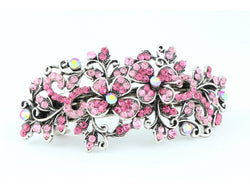samiksha Hair barrette clip with butterfly flowers and leaves - Pink - Samiksha's - barrette - www.samiksha.com