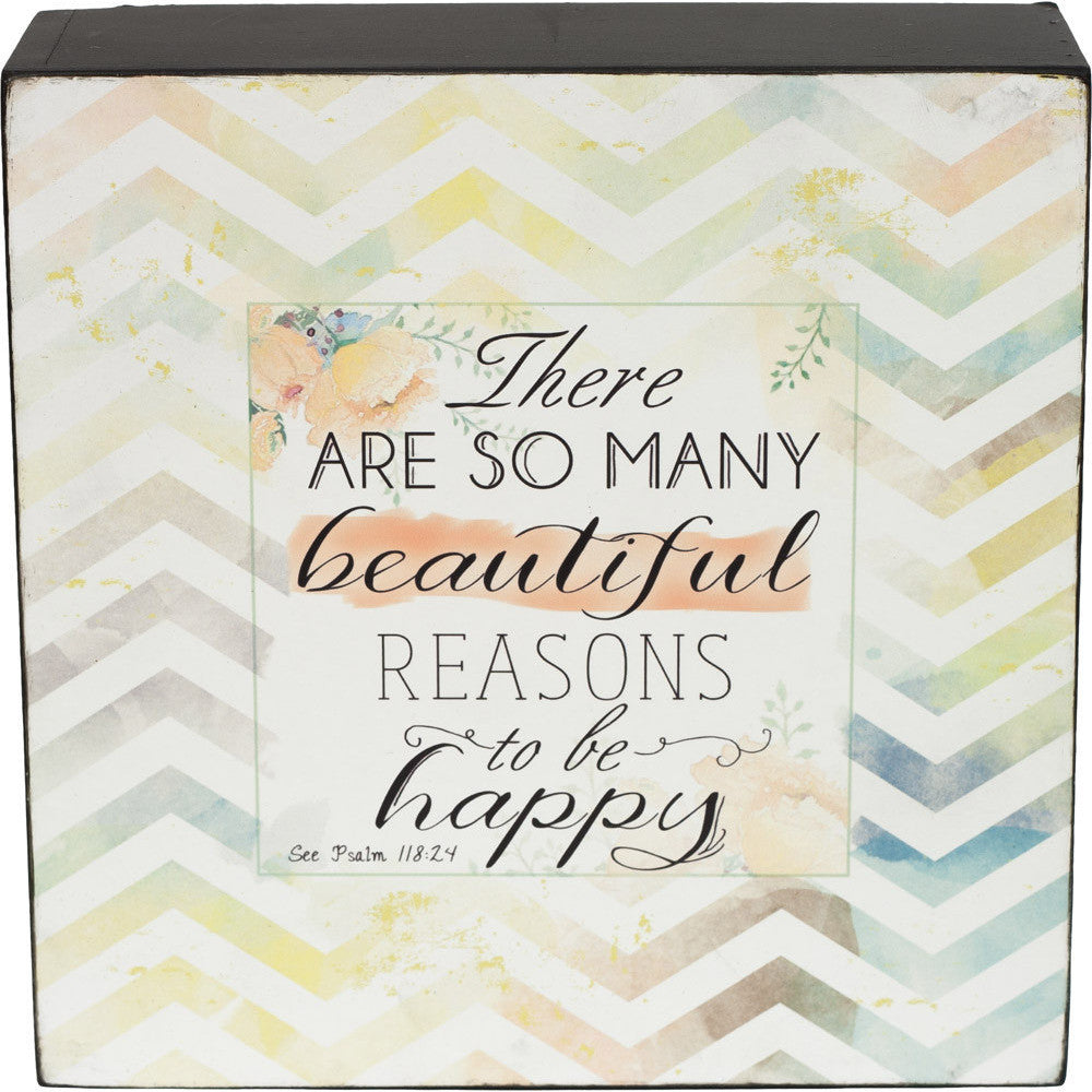 There Are So Many Reasons Box Plaque