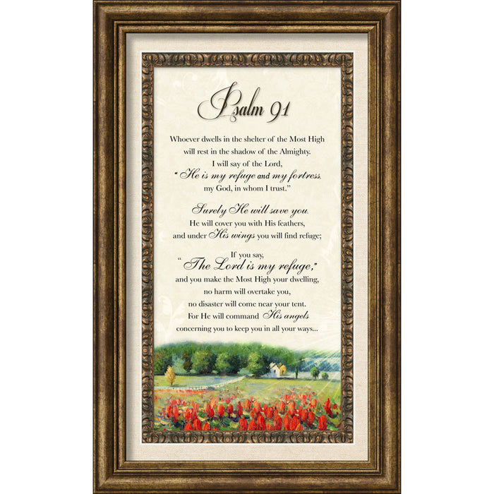 Psalm 91 Framed Art
