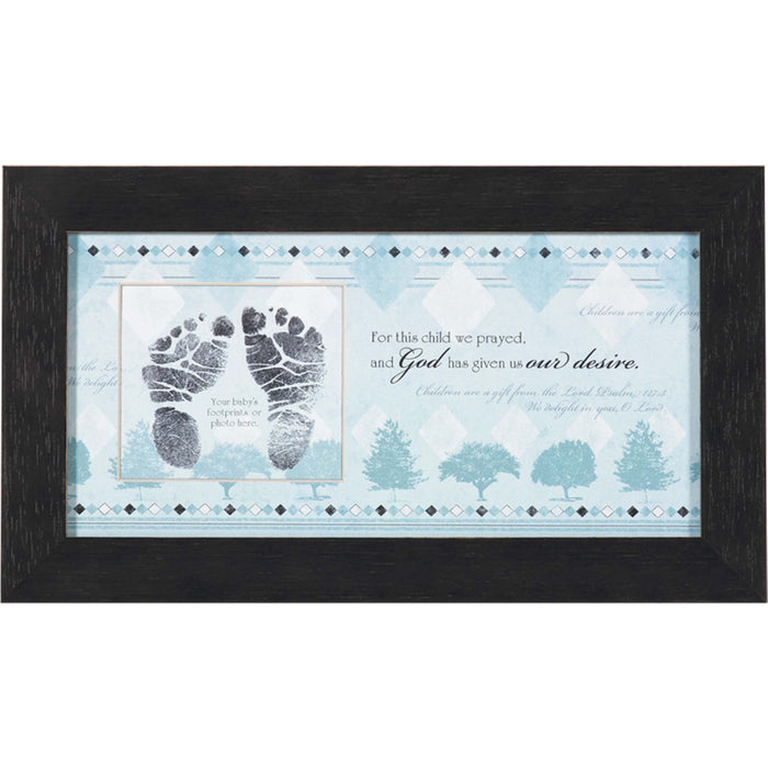 For This Child I Prayed Photo Frame - Blue - Carpentree