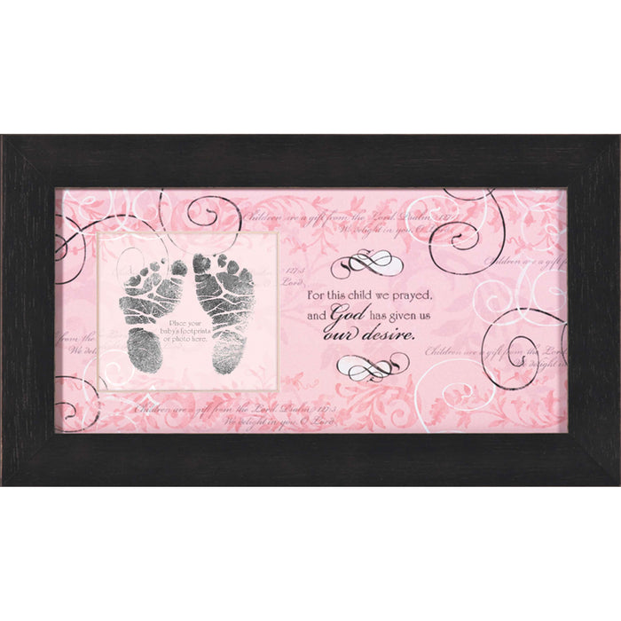 For This Child I Prayed Photo Frame - Pink - Carpentree