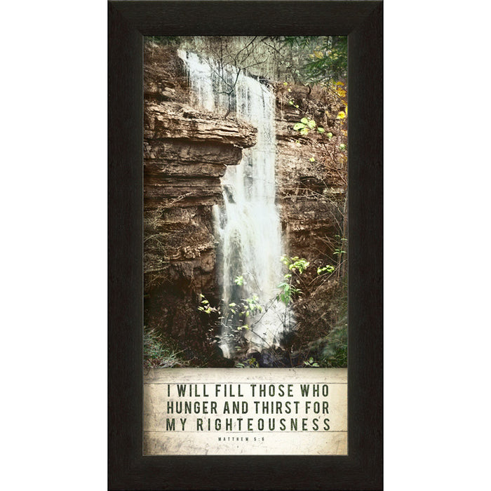 "I Will Fill  ""Untouched Falls"" Framed Art"