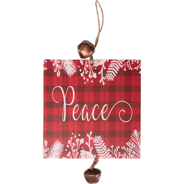 Hanging Mini Plaque Peace Ornament (12656) - Carpentree