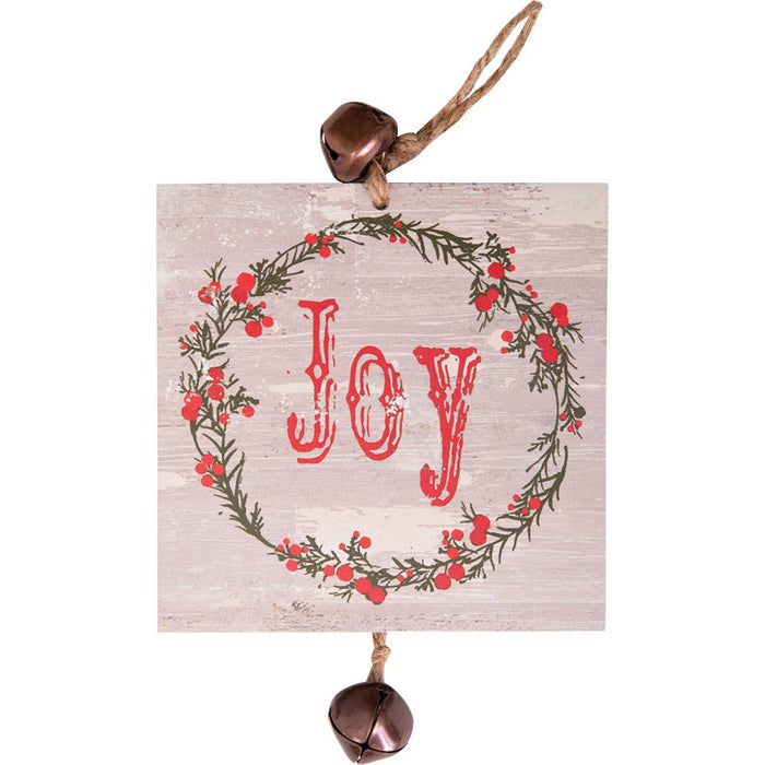 Hanging Mini Plaque Joy Ornament (12657) - Carpentree