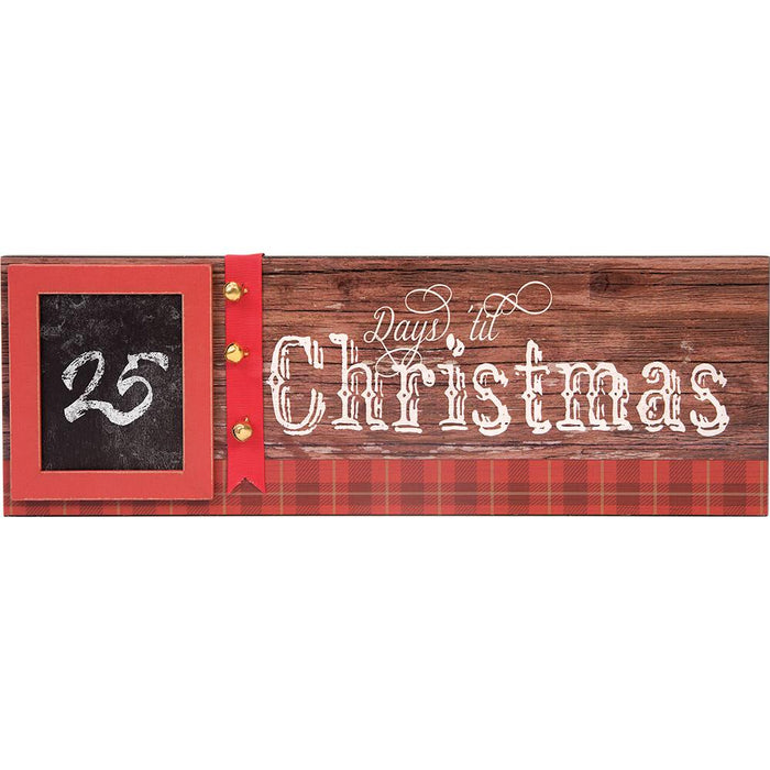 Days Till Christmas Plaque with Chalkboard (12668) - Carpentree