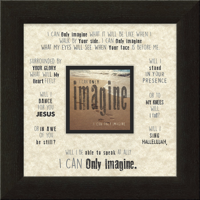I CAN ONLY IMAGINEä‹ Beach Framed Art - Carpentree