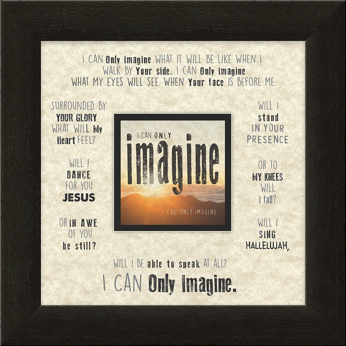 I CAN ONLY IMAGINE (what it will be like) Sunset Framed Art - Carpentree