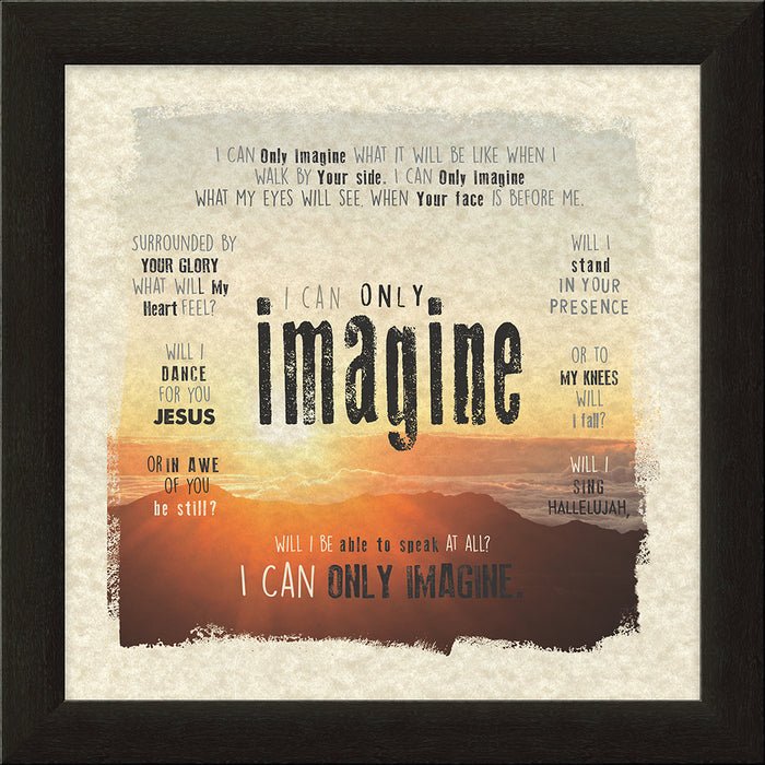 I CAN ONLY IMAGINEä‹ Sunset Framed Art - Carpentree