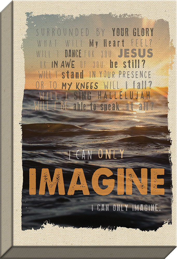 I CAN ONLY IMAGINEä‹  Water Sunset Christian canvas art - Carpentree canvases
