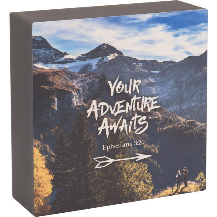 Your Adventure Awaits Graduate Box Plaque - Carpentree