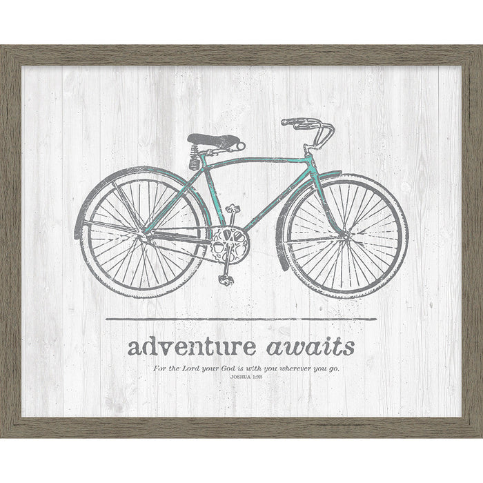 Adventure Awaits Framed Canvas - Carpentree