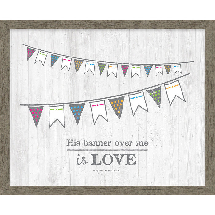 His Banner Over Me Framed Canvas - Carpentree