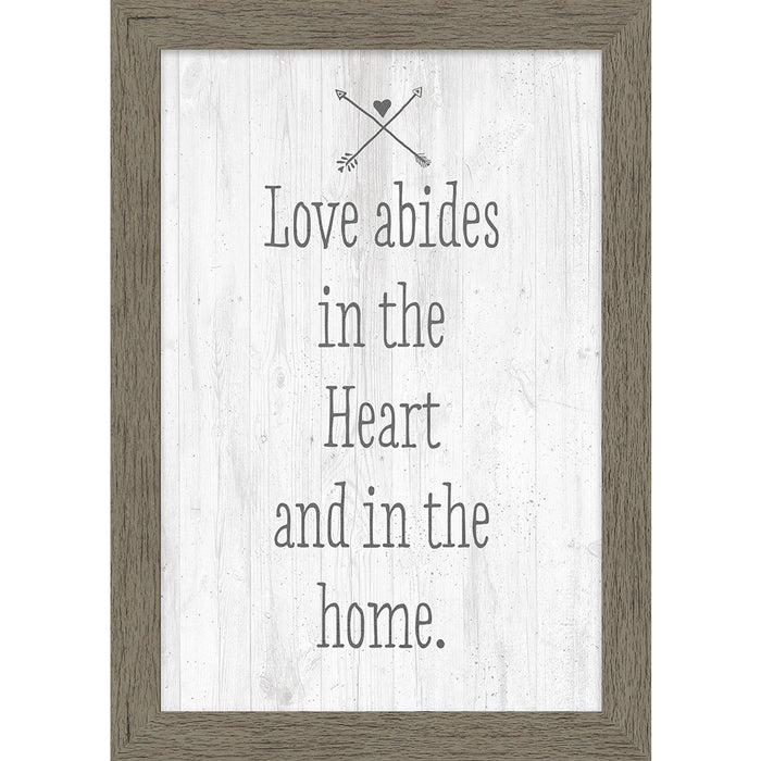 Love Abides Natural Framed Canvas