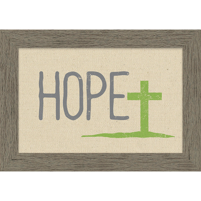 Hope Framed Natural Canvas