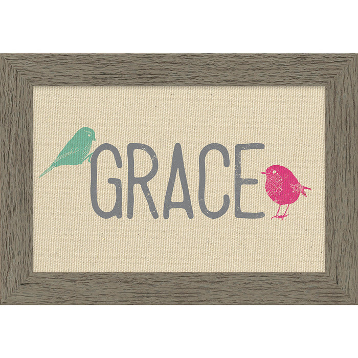 Grace Framed Natural Canvas
