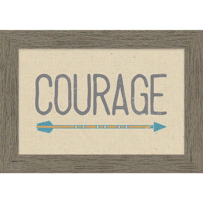 Courage Framed Natural Canvas