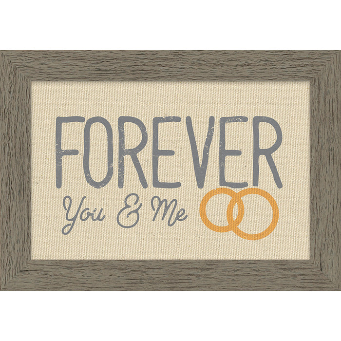 Forever You & Me Framed Natural Canvas