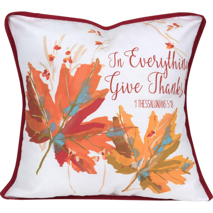 Give Thanks Pillow (18634) - Carpentree