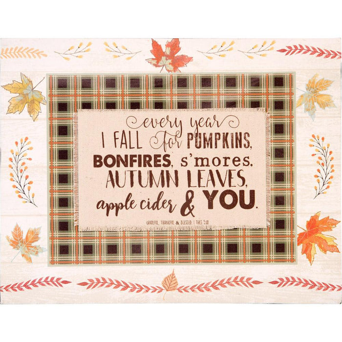 Give Thanks Collection I Fall For Layered Plaque (18656) - Carpentree