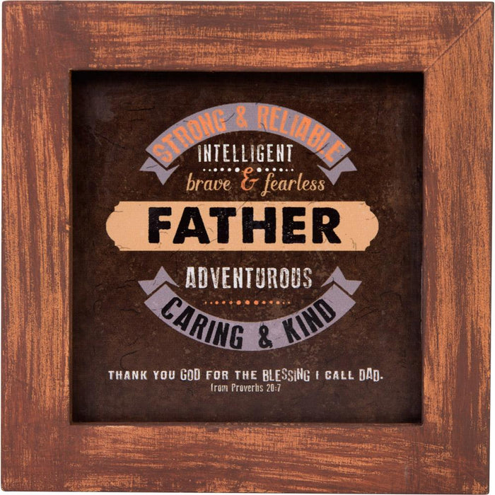Father Wood Framed Plaque - Carpentree