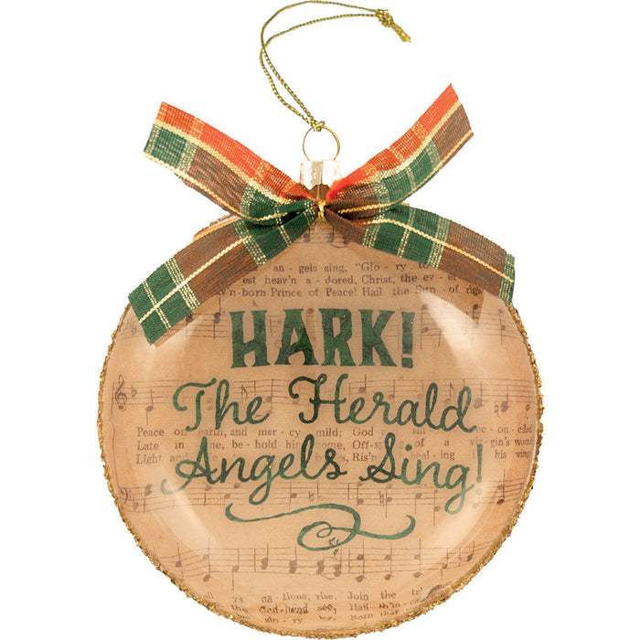 Hark! the Herald Glass Ornament