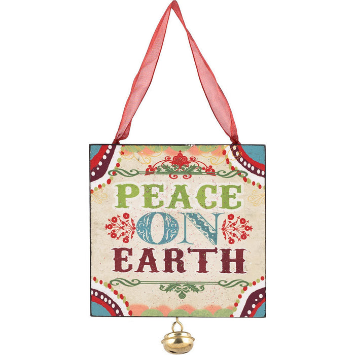 Peace on Earth Jingle Bell Ornament