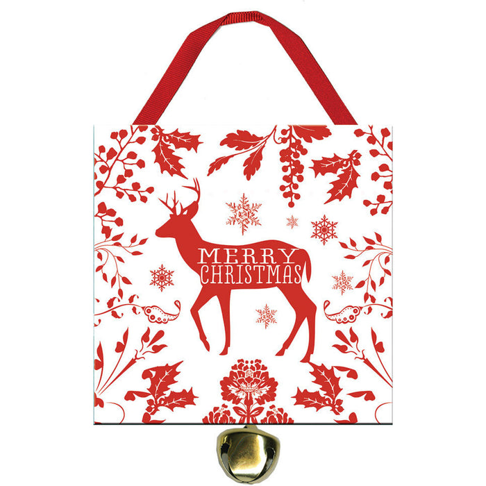 Merry Christmas Buck Deer Jingle Bell Ornament