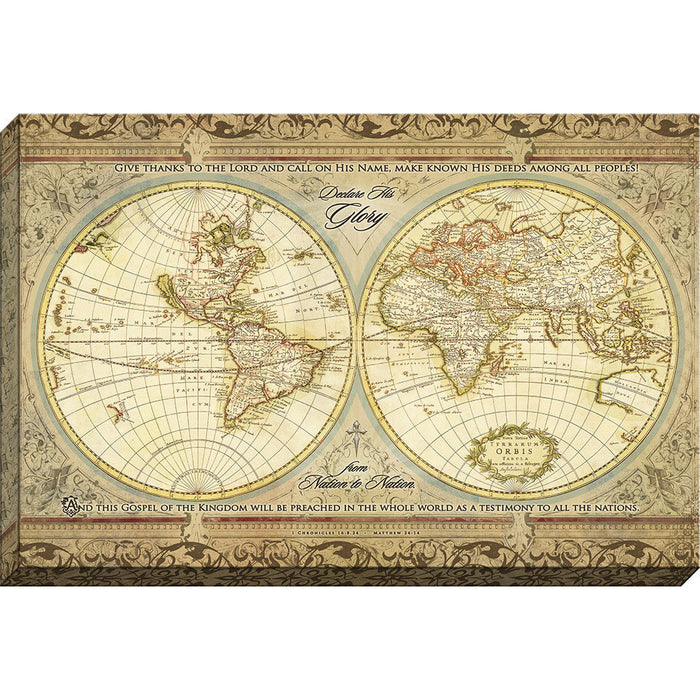 Testimony To the Nations - World Map Canvas