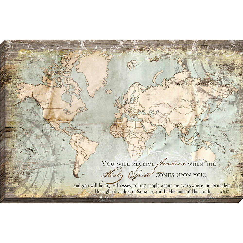 Jerusalem Judea Samaria And The Ends Of The Earth Map.Acts 1 8 Map Christian Canvas Art Christian Art And Decor Carpentree
