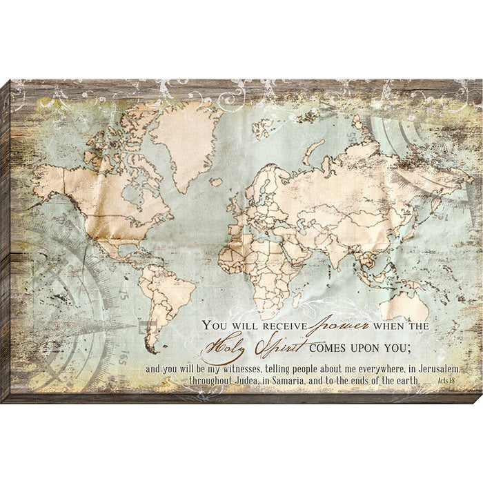 Acts 1:8 Map Canvas - Carpentree
