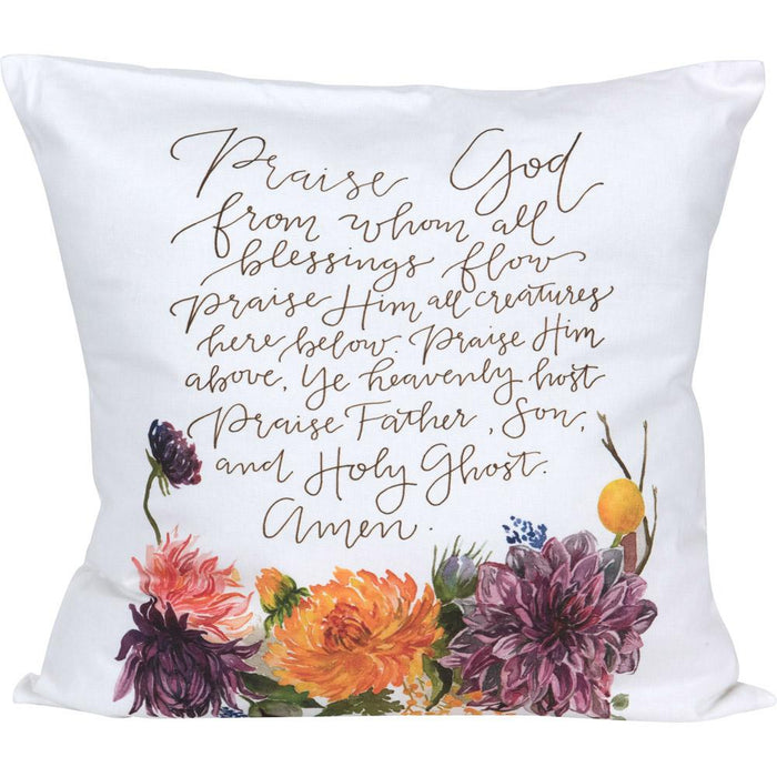 GraceLaced For Carpentree - Praise God Doxology Pillow (20194) - Carpentree