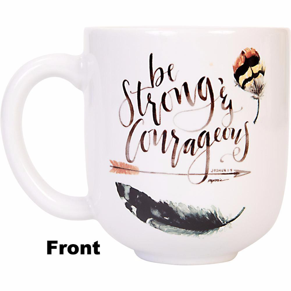GraceLaced For Carpentree - Be Strong & Courageous Mug - Carpentree