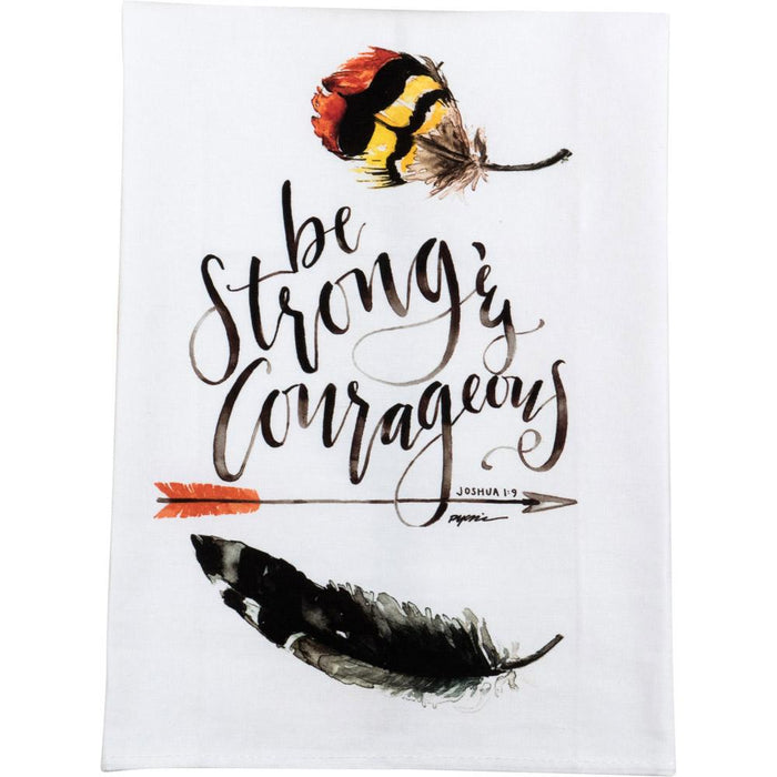 GraceLaced For Carpentree Be Strong Tea Towel