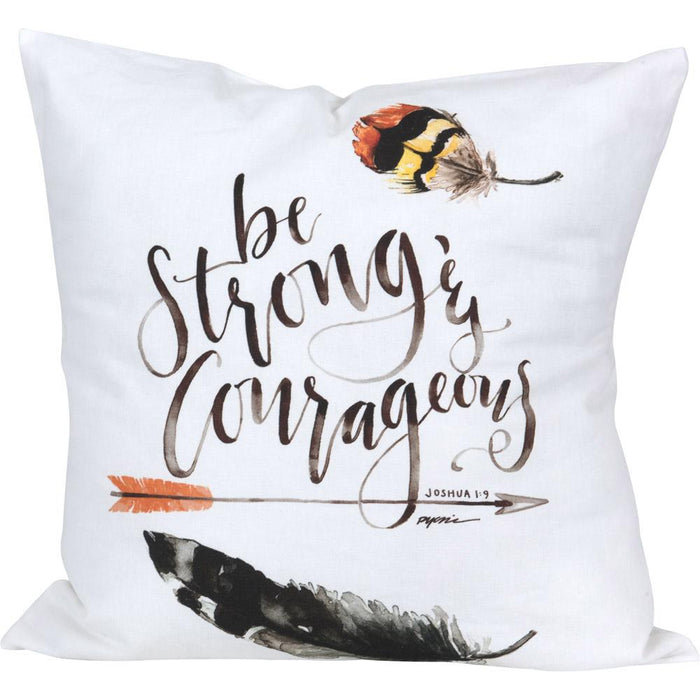 GraceLaced For Carpentree Be Strong and Courageous Pillow - Carpentree