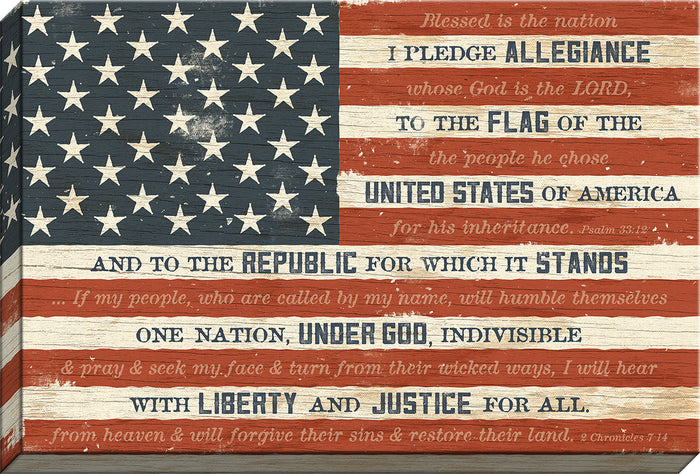 I Pledge Allegiance Flag Canvas (20259) - Carpentree canvases