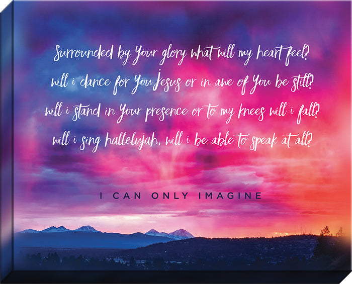 I CAN ONLY IMAGINE™ Sunset Canvas - Carpentree Christian canvas art