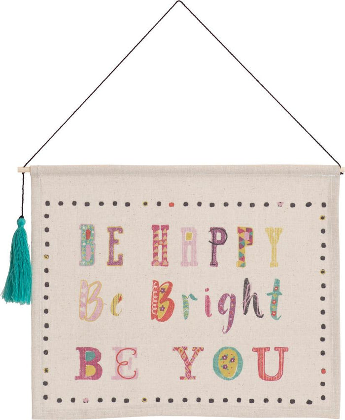 Be Happy Hanging Banner with Tassel - Carpentree