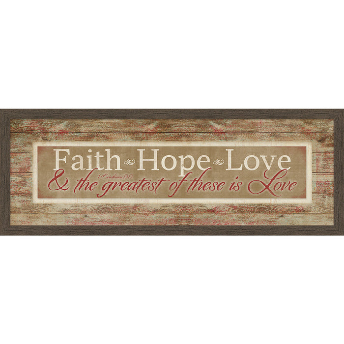 Faith, Hope, Love, Framed Canvas - Carpentree