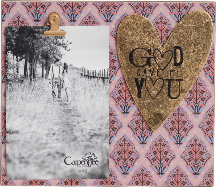 God Gave Me You Photo Frame (20461) - Carpentree