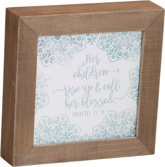 Call Her Blessed Box Plaque - Carpentree