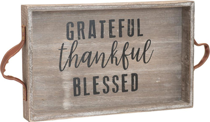 Thankful Wooden Tray