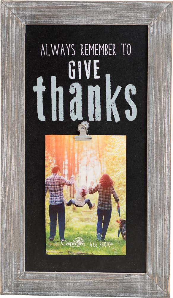 Give Thanks Photo Plaque - Carpentree