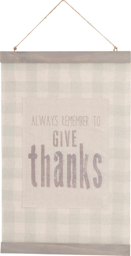 Give Thanks Hanging Banner - Carpentree