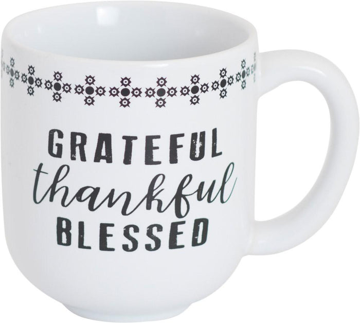 Grateful Thankful Blessed Mug - Carpentree